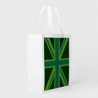 Bold Forest Green Union Jack Market Tote