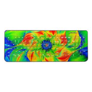 Bold Fractal Flower Wireless Keyboard