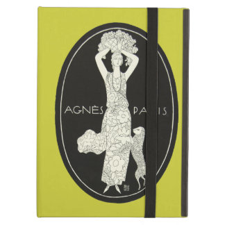 Bold French Agnes Paris French Fashion Woman Lamb Case For iPad Air