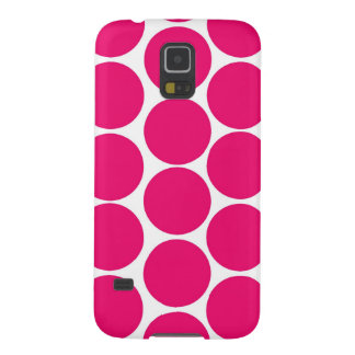BOLD FUCHSIA PINK POLKA DOTS PATTERN GALAXY S5 COVER