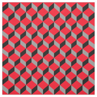 Bold Funky 3D Optical Illusion Patterned Print Fabric