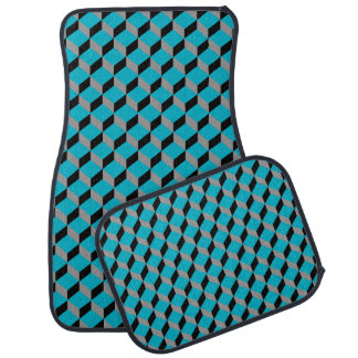 Bold Funky Optical Illusion Modern Patterned Car Carpet
