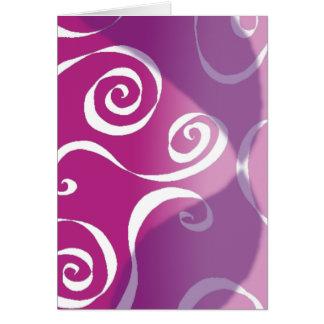 Bold Funky Scrolls - reverse pink-blend Card