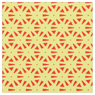 Bold Funky Yellow and Red Suns Abstract Pattern Fabric