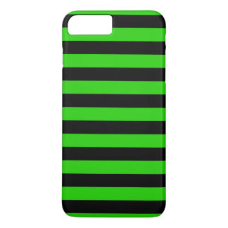 Bold Green and Black Stripes Pattern iPhone 7 Plus Case