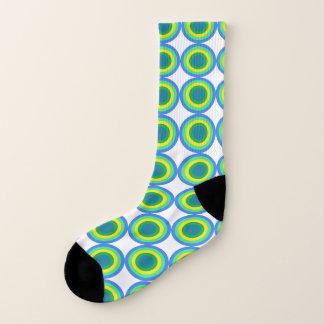 Bold Green and Yellow Bulls Eye Pattern Socks 1