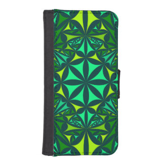 Bold Gren Kaleidoscope iPhone SE/5/5s Wallet Case
