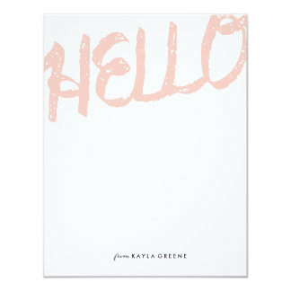 Bold Hello Pink Card