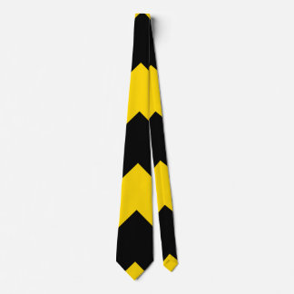 Bold Highway Traffic Bumble Bee Chevrons Tie