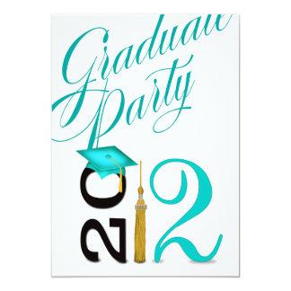 "Bold, Hip, Fun 2012 Graduation Party 5"" X 7"" Invitation Card"
