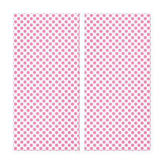 Bold Hot Pink Dot Pattern Canvas Print