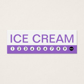bold ICE CREAM customer loyalty Mini Business Card