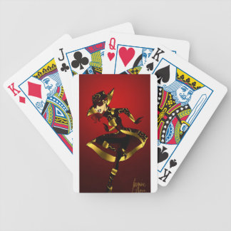 Bold In Red and Gold Bicycle Playing Cards