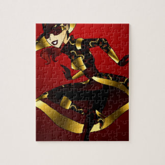 Bold In Red and Gold Jigsaw Puzzle