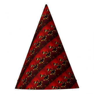 Bold In Red and Gold Party Hat