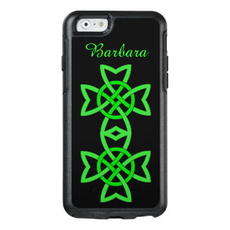 Bold Irish Celtic Double Knotted Green Design OtterBox iPhone 6/6s Case