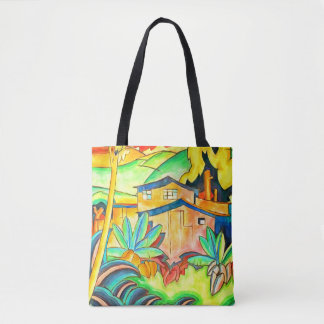 Bold Island Theme in Tropical Colors Tote Bag