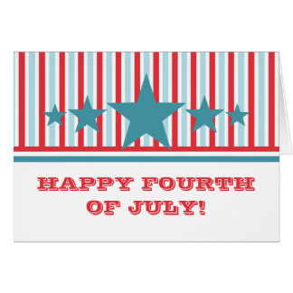 Bold July 4th Stars and Stripes Greeting Card