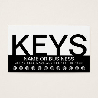 bold KEYS customer loyalty card