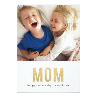 "Bold Letters mother's day Photo Card 5"" X 7"" Invitation Card"