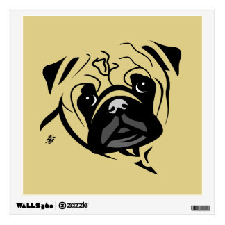 Bold Line Pug Art Wall Sticker