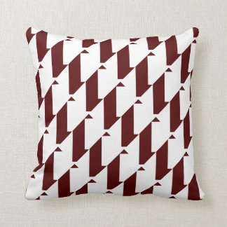 Bold Maroon and White, modern harlequin design Throw Pillow