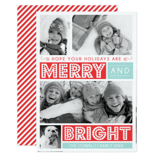 Bold Merry and Bright Photo Card