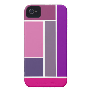 Bold Modern Geometric Pattern in Pink and Purples iPhone 4 Case-Mate Cases