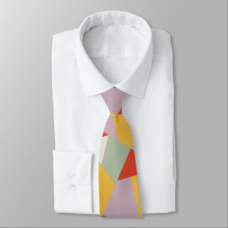 Bold Modern Geometric Triangles Tie
