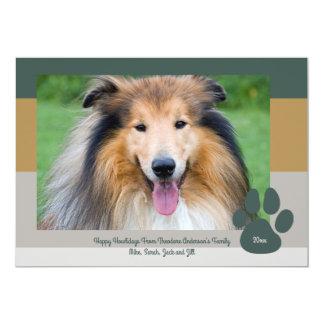 Bold Modern Pet Lover Holiday Christmas Photo Card