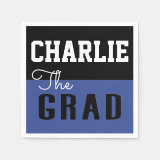 Bold Modern Typography Graduation Grad Paper Napkin