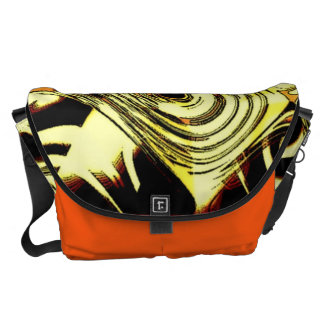 Bold Move - Yellow and Black Abstract Commuter Bag