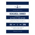 Bold Nautical Theme Rehearsal Dinner Invitation