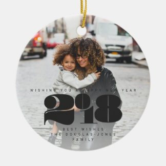 BOLD NEW YEAR CERAMIC ORNAMENT