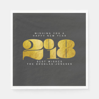 BOLD NEW YEAR(GOLD) PAPER NAPKINS