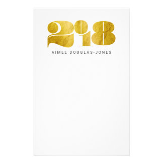 BOLD NEW YEAR(GOLD) STATIONERY