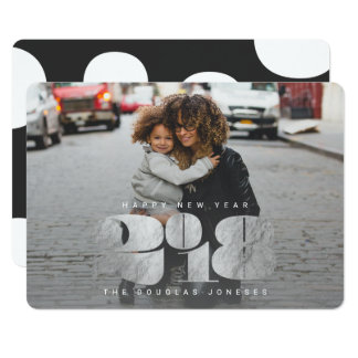 BOLD NEW YEAR(SILVER} CARD