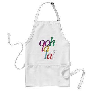"""Bold """"ooh La la!"""" in bright multi colors Standard Apron"""