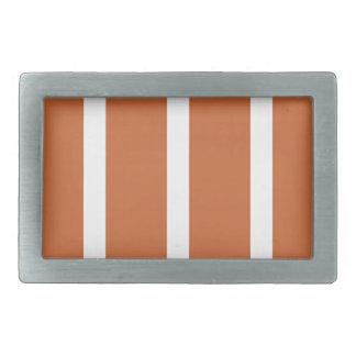 Bold Orange Stripes Belt Buckle