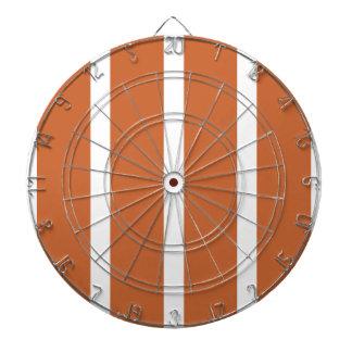 Bold Orange Stripes Dartboard