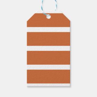Bold Orange Stripes Gift Tags