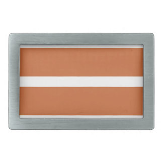 Bold Orange Stripes Rectangular Belt Buckle