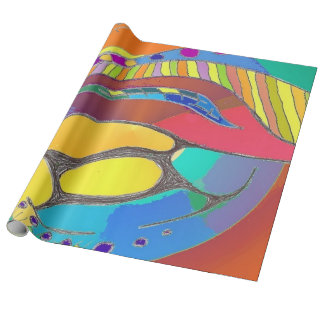 Bold Organic Design Linen Wrapping Paper