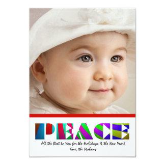 Bold Peace - Photo Holiday Card