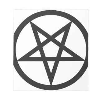Bold Pentagram Notepad