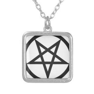 Bold Pentagram Silver Plated Necklace