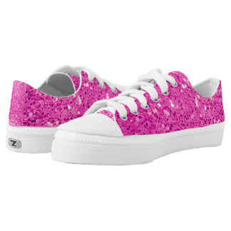 bold pink glitter Low-Top sneakers