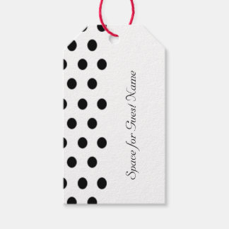 Bold Polka Dot Wedding Gift Tags