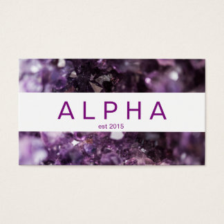 Bold Purple Amethyst Crystal Business Card