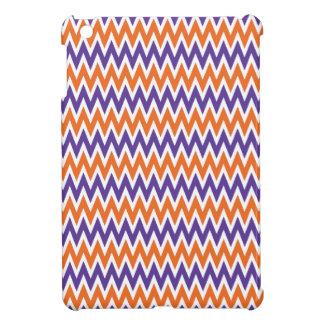 Bold Purple and Orange Chevron Zigzag Pattern iPad Mini Covers